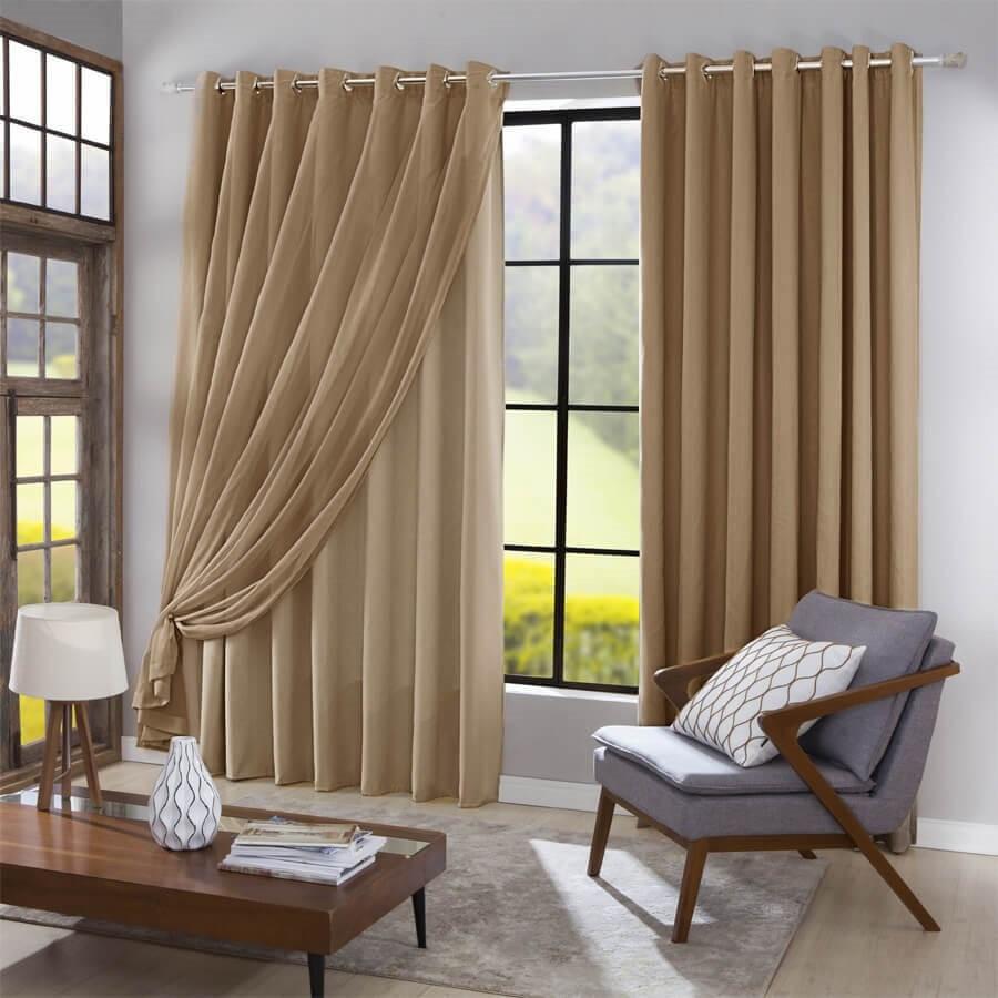 combina cortina com decoracao da casa