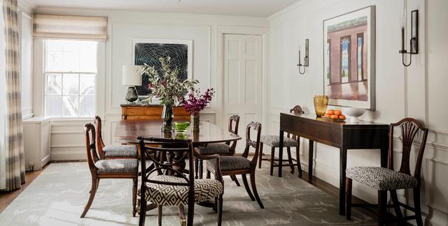 escolher tapete para sala de jantar