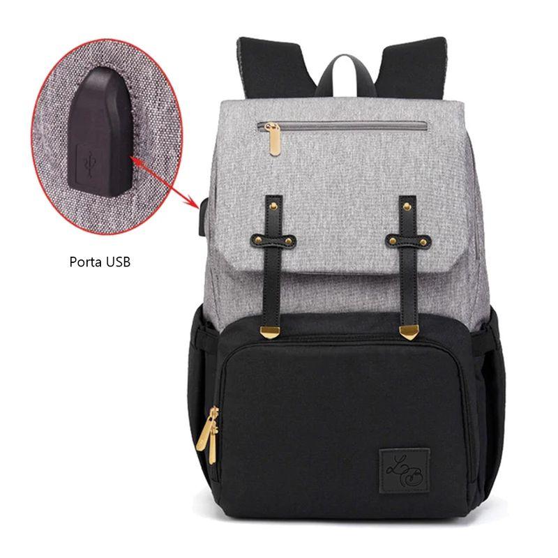 imagem mochila maternidade com porta usb