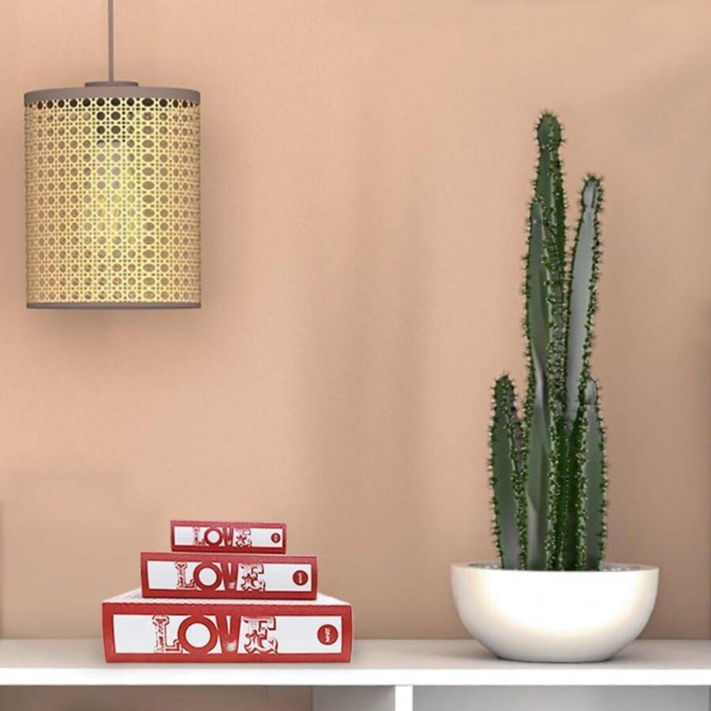 estante decorada com livros e uma planta