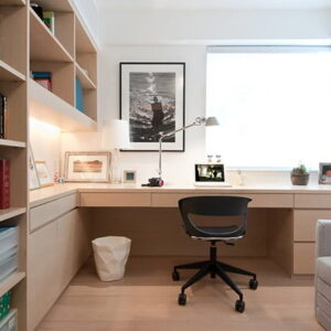 imagem home office com notebook