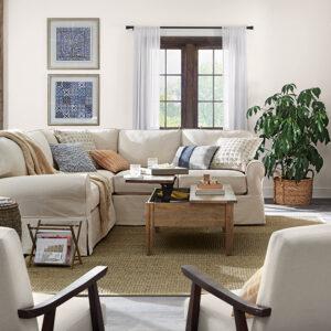 imagem sala de estar decorada